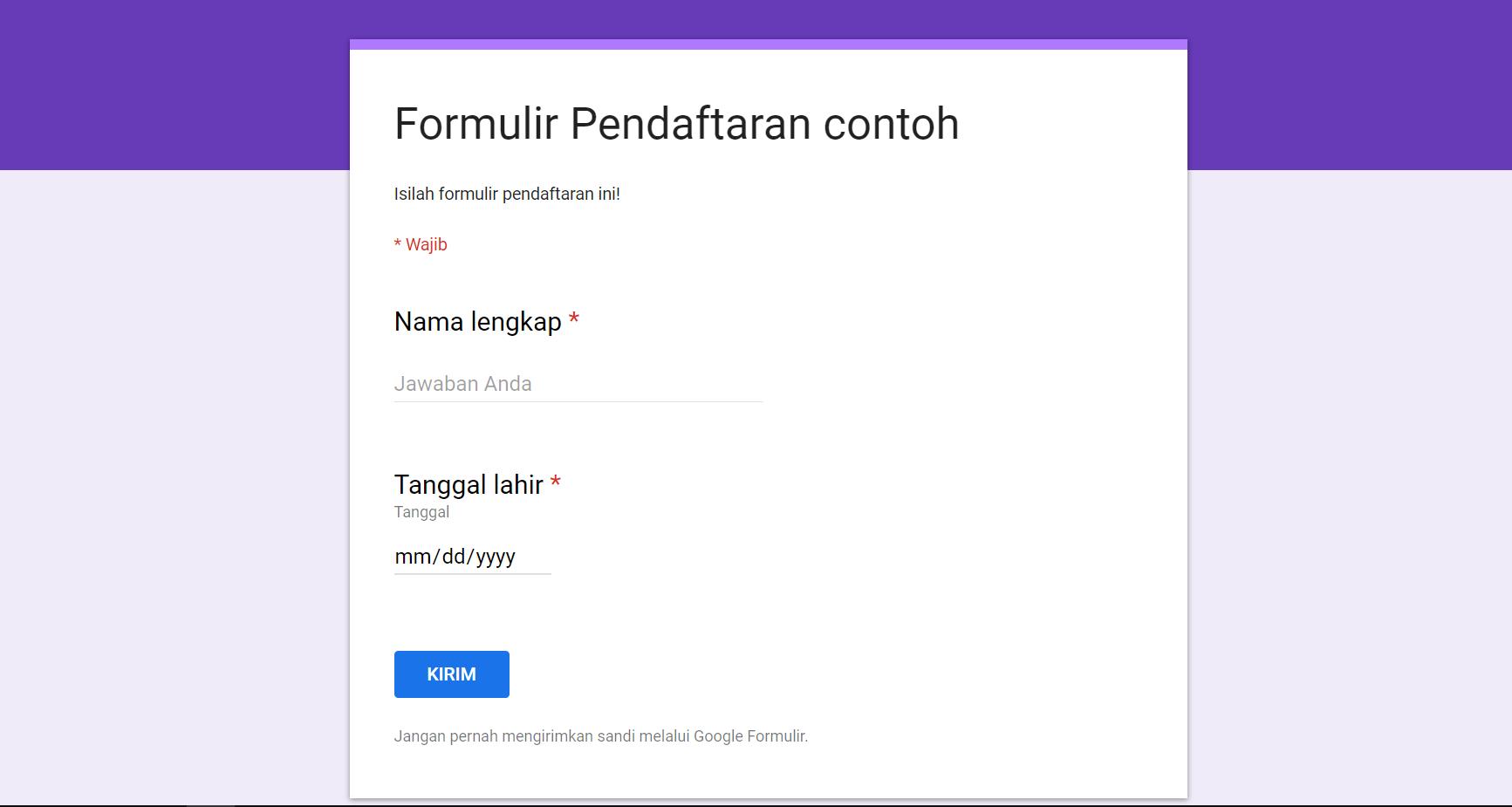 Cara Membuat Formulir Online Dengan Google Form Dengan Mudah Kang Andi Net